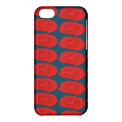 Rose Repeat Red Blue Beauty Sweet Apple iPhone 5C Hardshell Case