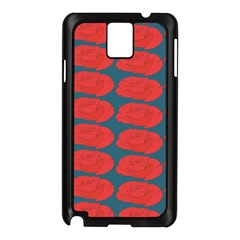 Rose Repeat Red Blue Beauty Sweet Samsung Galaxy Note 3 N9005 Case (Black)