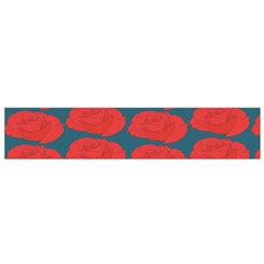 Rose Repeat Red Blue Beauty Sweet Flano Scarf (Small)