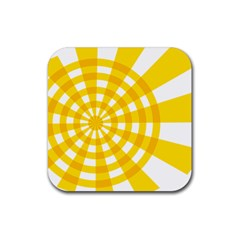 Weaving Hole Yellow Circle Rubber Coaster (square)