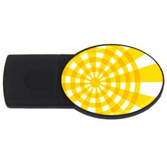 Weaving Hole Yellow Circle USB Flash Drive Oval (2 GB)