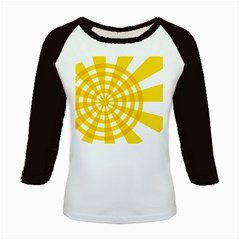 Weaving Hole Yellow Circle Kids Baseball Jerseys