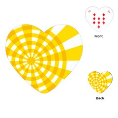 Weaving Hole Yellow Circle Playing Cards (Heart)