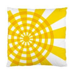 Weaving Hole Yellow Circle Standard Cushion Case (One Side)
