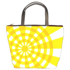 Weaving Hole Yellow Circle Bucket Bags
