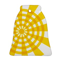 Weaving Hole Yellow Circle Ornament (Bell)