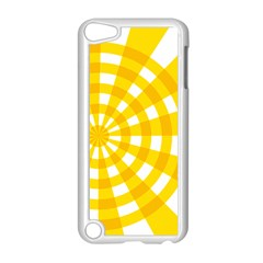 Weaving Hole Yellow Circle Apple iPod Touch 5 Case (White)
