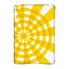 Weaving Hole Yellow Circle Apple iPad Mini Hardshell Case (Compatible with Smart Cover)