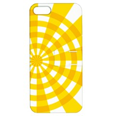 Weaving Hole Yellow Circle Apple iPhone 5 Hardshell Case with Stand