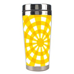 Weaving Hole Yellow Circle Stainless Steel Travel Tumblers