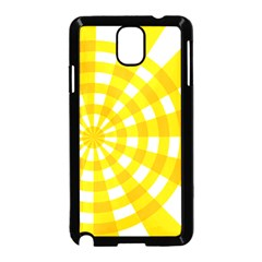 Weaving Hole Yellow Circle Samsung Galaxy Note 3 Neo Hardshell Case (Black)