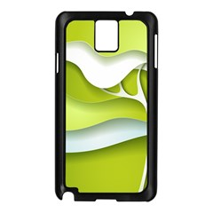 Tree Wood  White Green Samsung Galaxy Note 3 N9005 Case (Black)