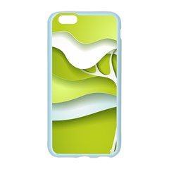Tree Wood  White Green Apple Seamless iPhone 6/6S Case (Color)
