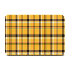 Plaid Yellow Line Plate Mats