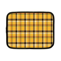 Plaid Yellow Line Netbook Case (Small)