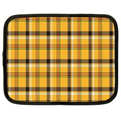 Plaid Yellow Line Netbook Case (Large)