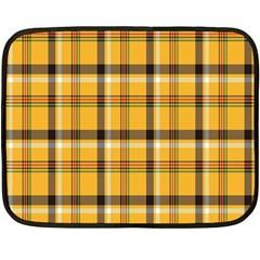 Plaid Yellow Line Double Sided Fleece Blanket (mini)