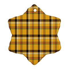 Plaid Yellow Line Ornament (Snowflake)