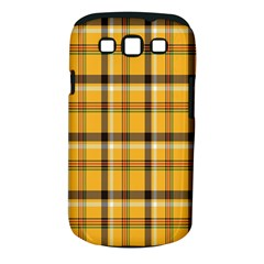 Plaid Yellow Line Samsung Galaxy S III Classic Hardshell Case (PC+Silicone)
