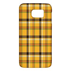 Plaid Yellow Line Galaxy S6