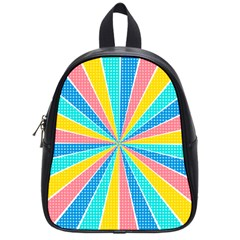 Rhythm Heaven Megamix Circle Star Rainbow Color School Bags (Small)