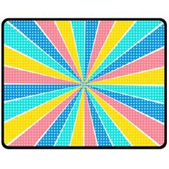 Rhythm Heaven Megamix Circle Star Rainbow Color Fleece Blanket (Medium)