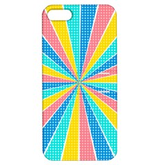 Rhythm Heaven Megamix Circle Star Rainbow Color Apple Iphone 5 Hardshell Case With Stand