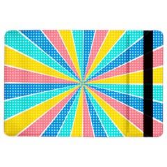 Rhythm Heaven Megamix Circle Star Rainbow Color iPad Air 2 Flip