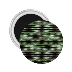 Stripes Camo Pattern Print 2.25  Magnets