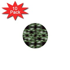 Stripes Camo Pattern Print 1  Mini Buttons (10 pack)