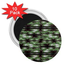 Stripes Camo Pattern Print 2.25  Magnets (10 pack)