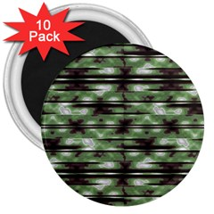 Stripes Camo Pattern Print 3  Magnets (10 pack)