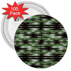 Stripes Camo Pattern Print 3  Buttons (100 pack)