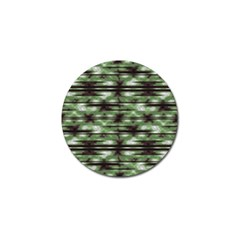 Stripes Camo Pattern Print Golf Ball Marker (4 pack)