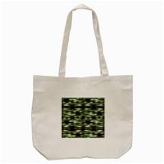 Stripes Camo Pattern Print Tote Bag (Cream)