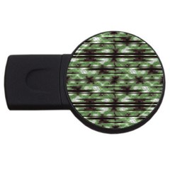Stripes Camo Pattern Print USB Flash Drive Round (4 GB)