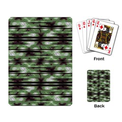 Stripes Camo Pattern Print Playing Card