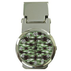 Stripes Camo Pattern Print Money Clip Watches
