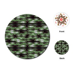 Stripes Camo Pattern Print Playing Cards (Round)
