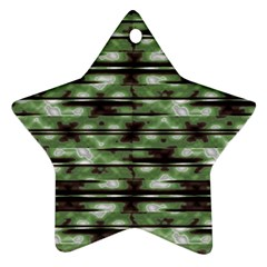 Stripes Camo Pattern Print Star Ornament (Two Sides)