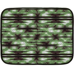Stripes Camo Pattern Print Double Sided Fleece Blanket (Mini)