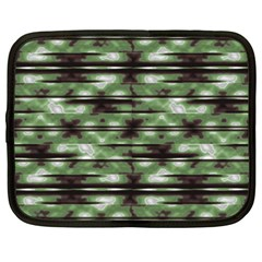 Stripes Camo Pattern Print Netbook Case (XXL)