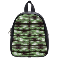 Stripes Camo Pattern Print School Bags (Small)