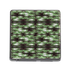 Stripes Camo Pattern Print Memory Card Reader (Square)