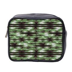 Stripes Camo Pattern Print Mini Toiletries Bag 2 Side