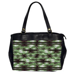 Stripes Camo Pattern Print Office Handbags (2 Sides)