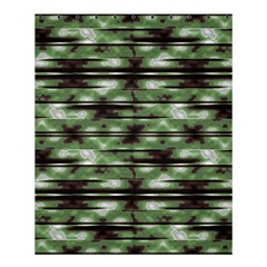 Stripes Camo Pattern Print Shower Curtain 60  x 72  (Medium)