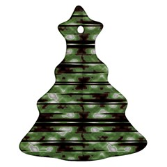Stripes Camo Pattern Print Christmas Tree Ornament (Two Sides)