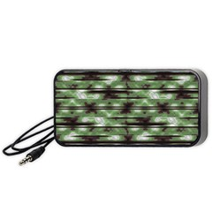 Stripes Camo Pattern Print Portable Speaker (Black)
