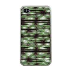 Stripes Camo Pattern Print Apple iPhone 4 Case (Clear)